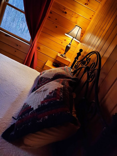 Bedroom in Getaway Cabins Whispering Woods #25 cabin in the Hocking Hills
