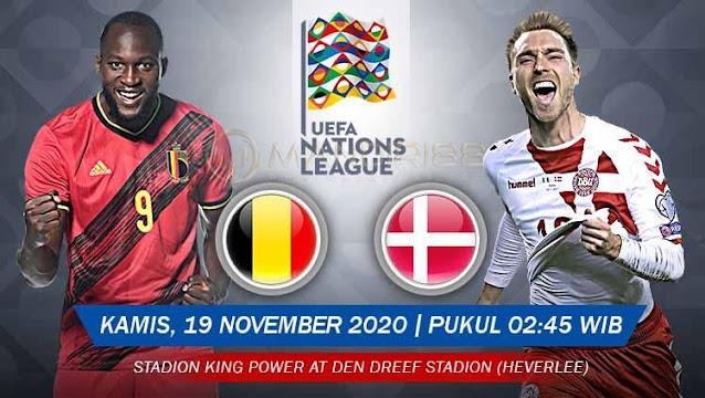 Prediksi Belgia Vs Denmark, Rabu 19 November 2020 Pukul 02.45 WIB @ Mola TV
