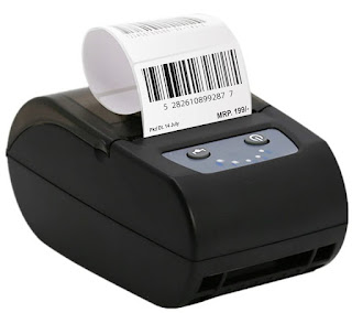 Shreyans 58mm Label + Receipt Printer (2 in 1) - Thermal (55x25 Label Combo) Free 500 Labels Bluetooth and USB Connectivity Support