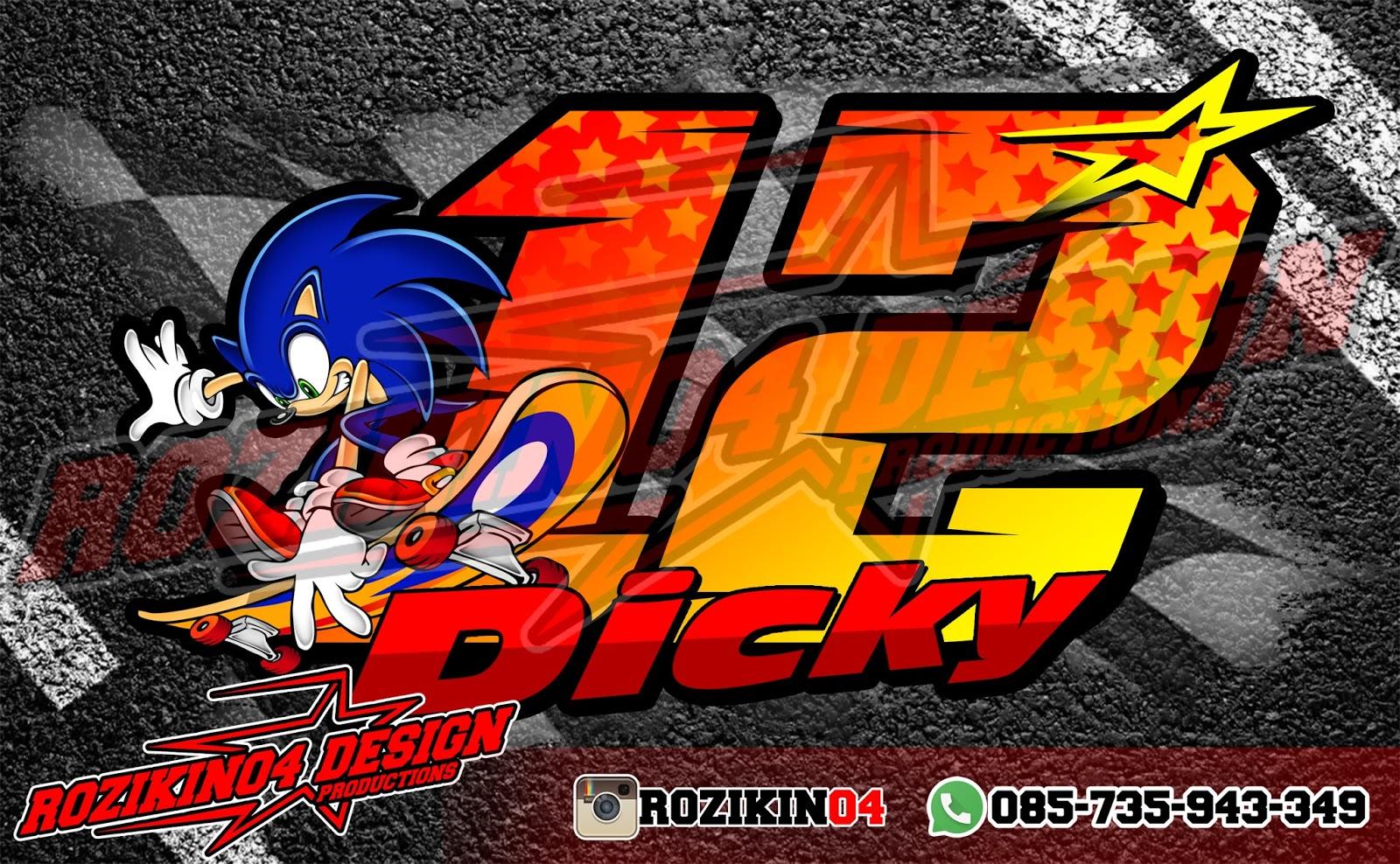 Stiker Racing Keren 12 Dicky Firedpen Gambar Logo