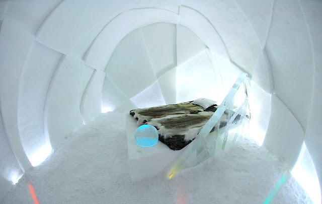 The Ice Hotel in Sweden provides guests with a unique hotel experience in winter
