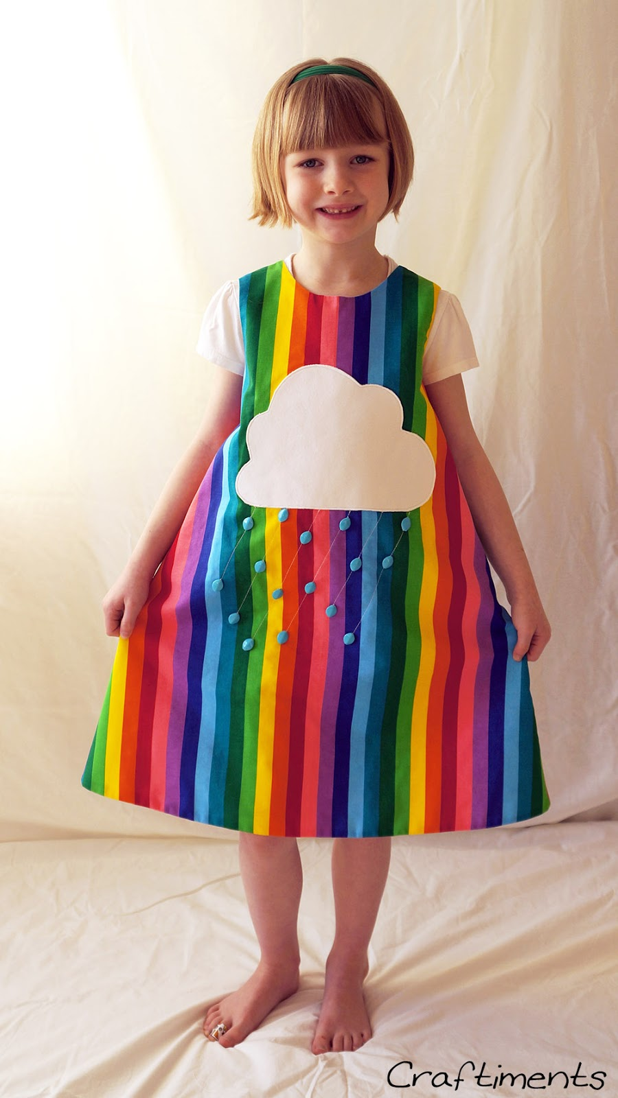 Front of rainbow dress