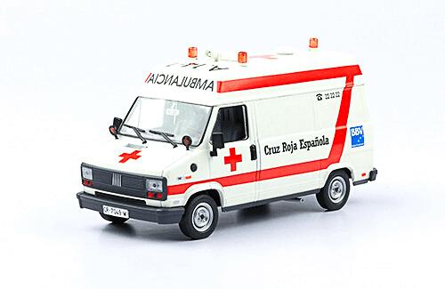 Fiat Ducato 1990 1:43 Cruz Roja Española vehículos de reparto y servicio salvat