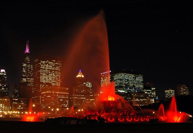 Fogos no Grant Park Chicago