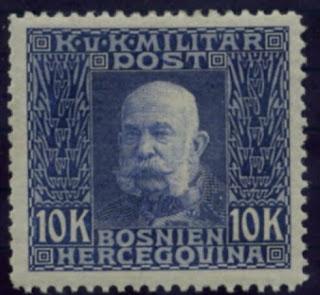 Bosnia & Herzegovina 1912 10 Kr Franz Joseph