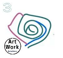رسم اطفال فنية بسيطة بالرصاص وردة رائعة رسومات اطفال سهلة