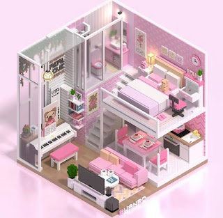 Pink Voxel Room