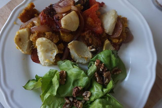 une_journée_dans_assiette_what_i_eat_in_a_day_recette_réequilibrage_alimentaire_healthy_manger_sain_vegan_menu_idee_rentrée_banana_polenta_legumes