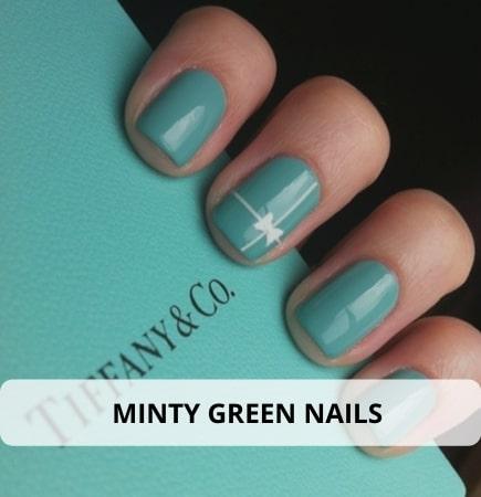 Minty Green Nails