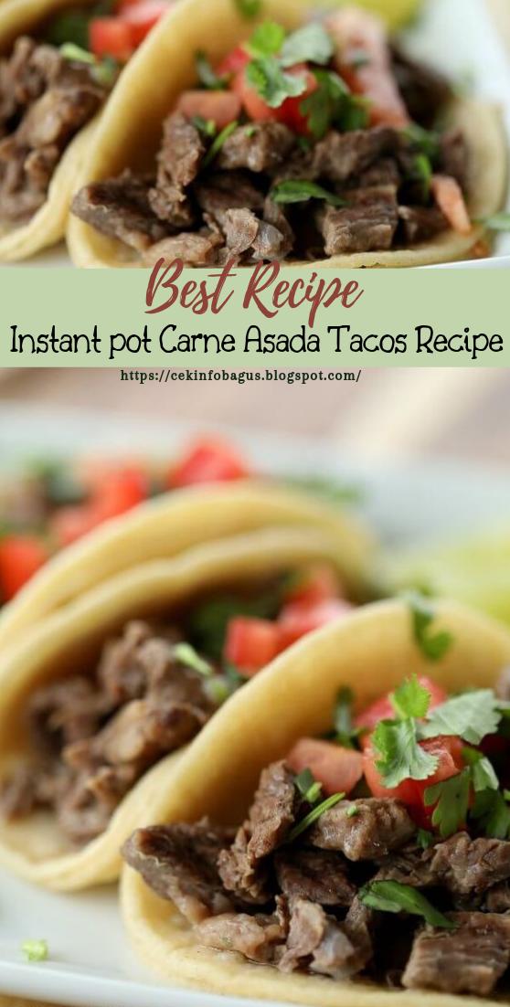 Instant pot Carne Asada Tacos Recipe #healthyfood #dietketo