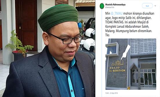 Sebar Hoax Soal Salib di Kaligrafi Masjid Komplek TNI AU, Caleg Gagal  Mustofa Nahrawardaya Kena Skakmat Airmin