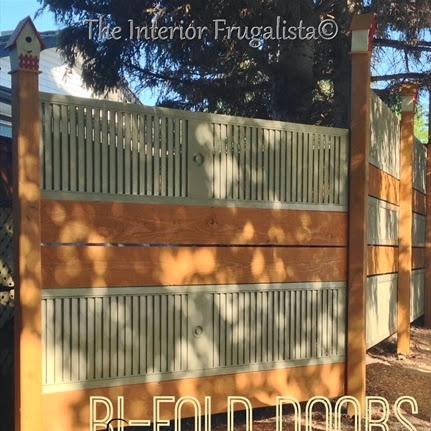 DIY Garden Screen From Repurposed Louvered Bi-Fold Doors