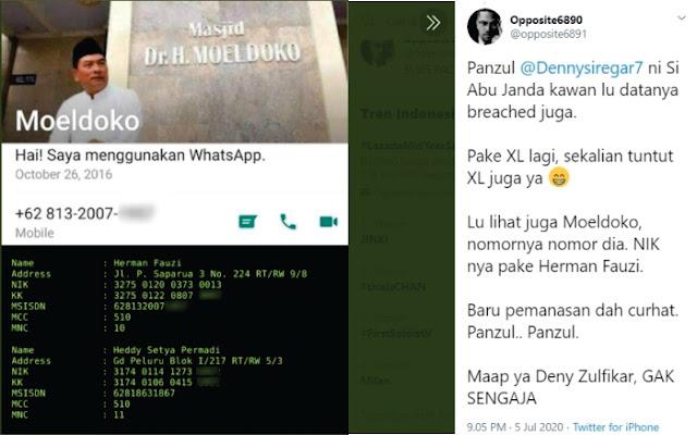 Setelah Denny Siregar, Data Moeldoko dan Hendropriyono Sampai Abu Janda Juga Dibongkar! Siapa Sebenarnya opposite6890 ini ?