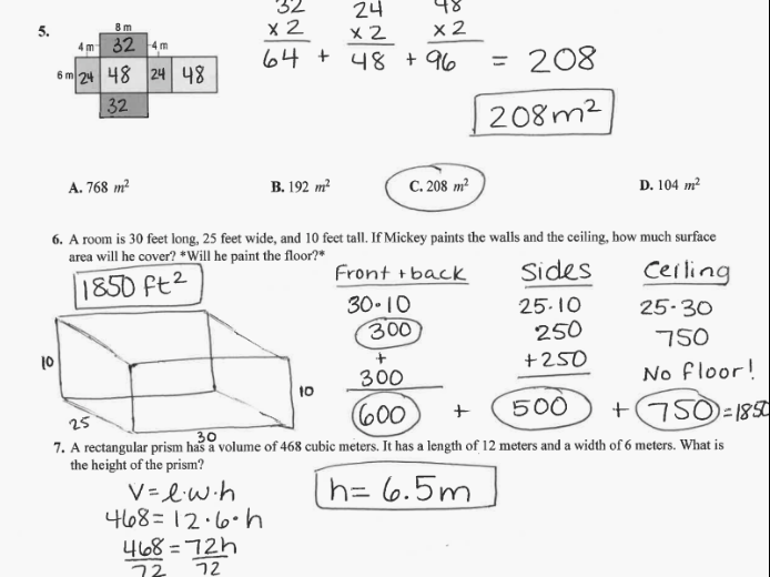 Grade 6 Math with Ms. Eringis : CHAPTER 10 TEST REVIEW ...