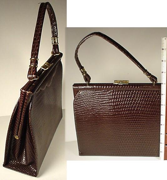 7885578942f9c hermes replica bags for sale - Delightfully Vintage Stuff  Vintage Faux  Alligator Purse Kelly . ...