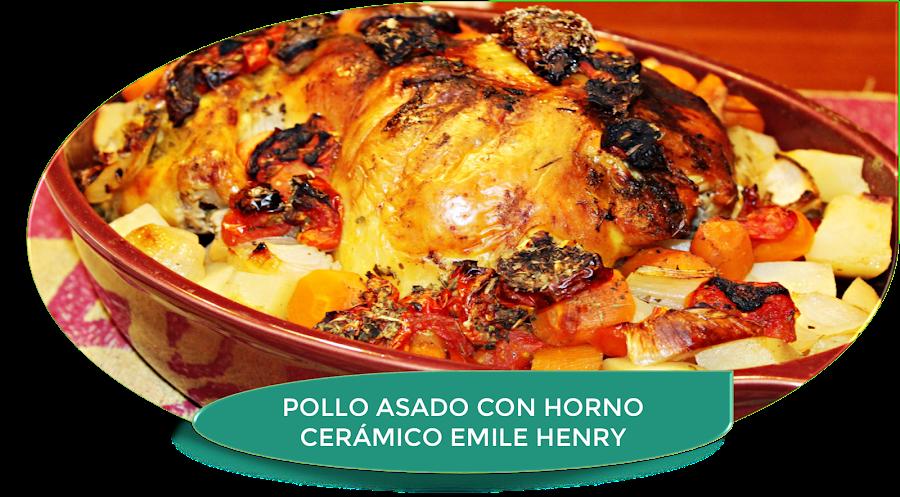 POLLO ASADO EN HORNO CERÁMICO EMILE HENRY