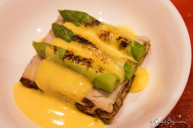 Pistachio Strudel with grilled Asparagus and Zabaglione Recipe