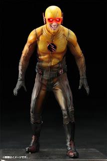 Reverse Flash con gli occhi rossi come apparso nella serie tv