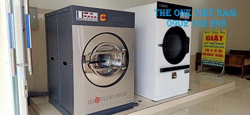 Lắp đặt máy giặt công nghiệp Hàn Quốc cho tiệm giặt dân sinh tại Đăk Lăk