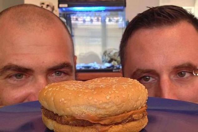 hamburguesa de McDonald hace 21 años