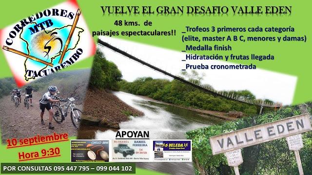 MTB - Gran Desafío Valle Edén (Tacuarembó, 10/sep/2017)