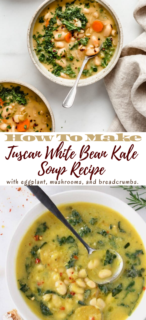 Tuscan White Bean Kale Soup Recipe #healthyrecipe #dinnerhealthy #ketorecipe #diet #salad