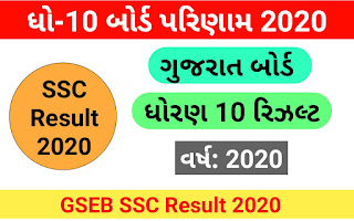 Gujarat Board 10th Result 2020