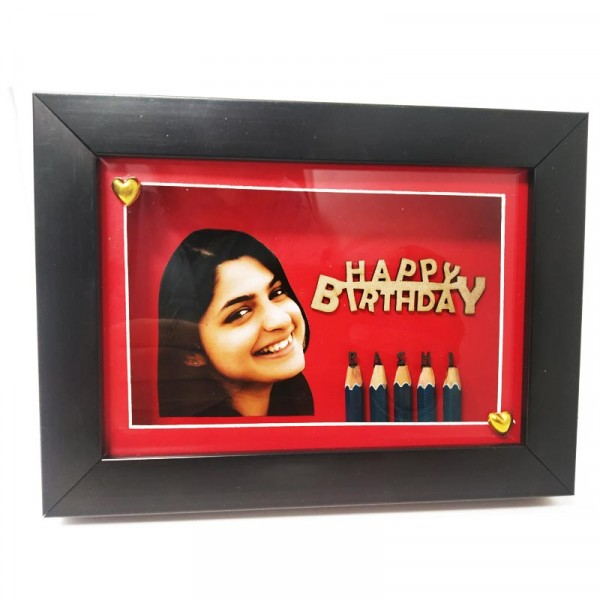 Pencil Carving Art With Photo Frame