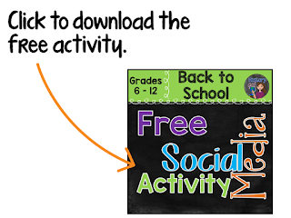 https://www.teacherspayteachers.com/Product/Back-to-School-Social-Media-Activity-1986296