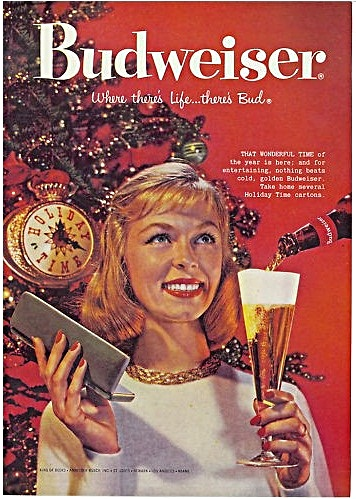 Vintage Holiday Graphics Budweiser Christmas Ads