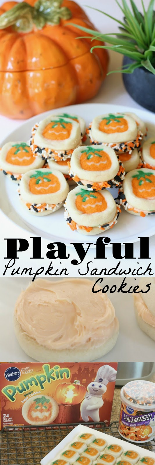 Super easy sugar cookie recipe that's fun for fall and Halloween treats