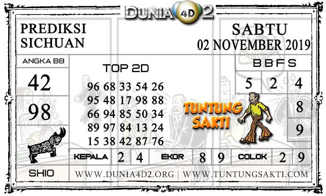 """Prediksi Togel """"SICHUAN"""" DUNIA4D2 02 NOVEMBER 2019"""
