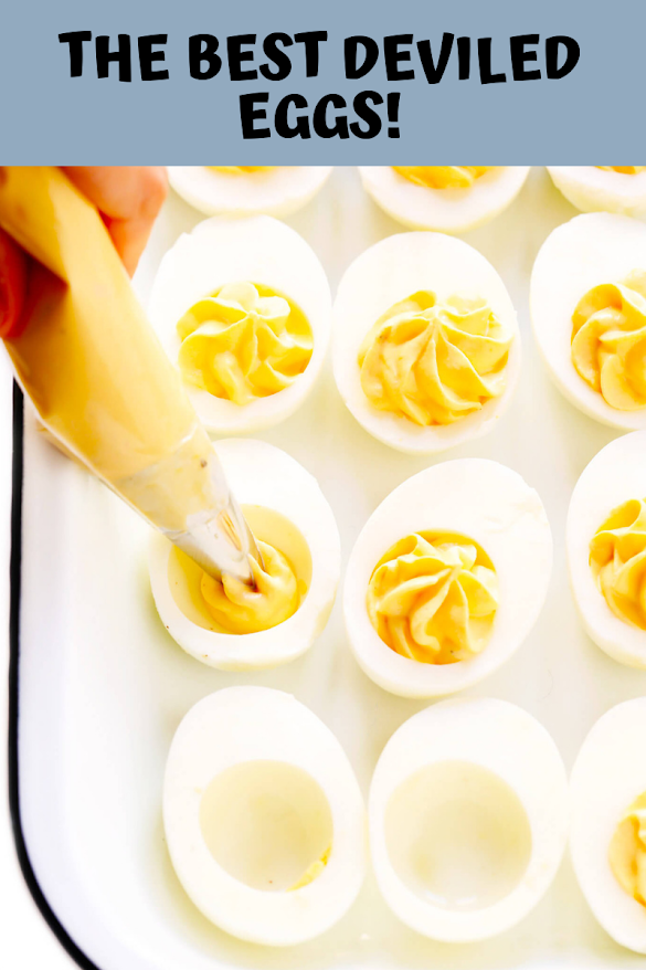 THE BEST DEVILED EGGS!