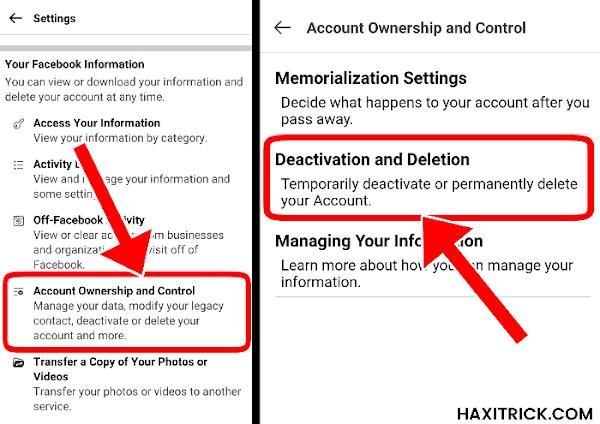 Fb Account Delete or Deactivation