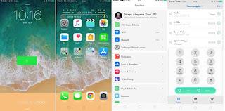 Tema iPhone Untuk Oppo a3s Tembus Whatsapp Keren Gratis