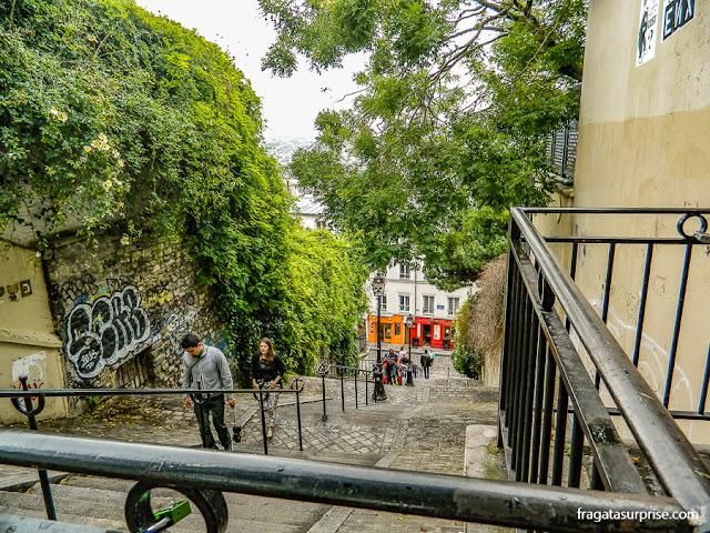 Escadaria em Montmartre, Paris