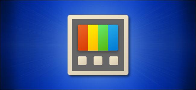 رمز Windows PowerToys على خلفية زرقاء