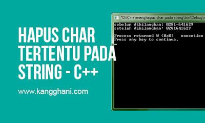 Menghapus Karakter Tertentu pada Suatu String dengan C++