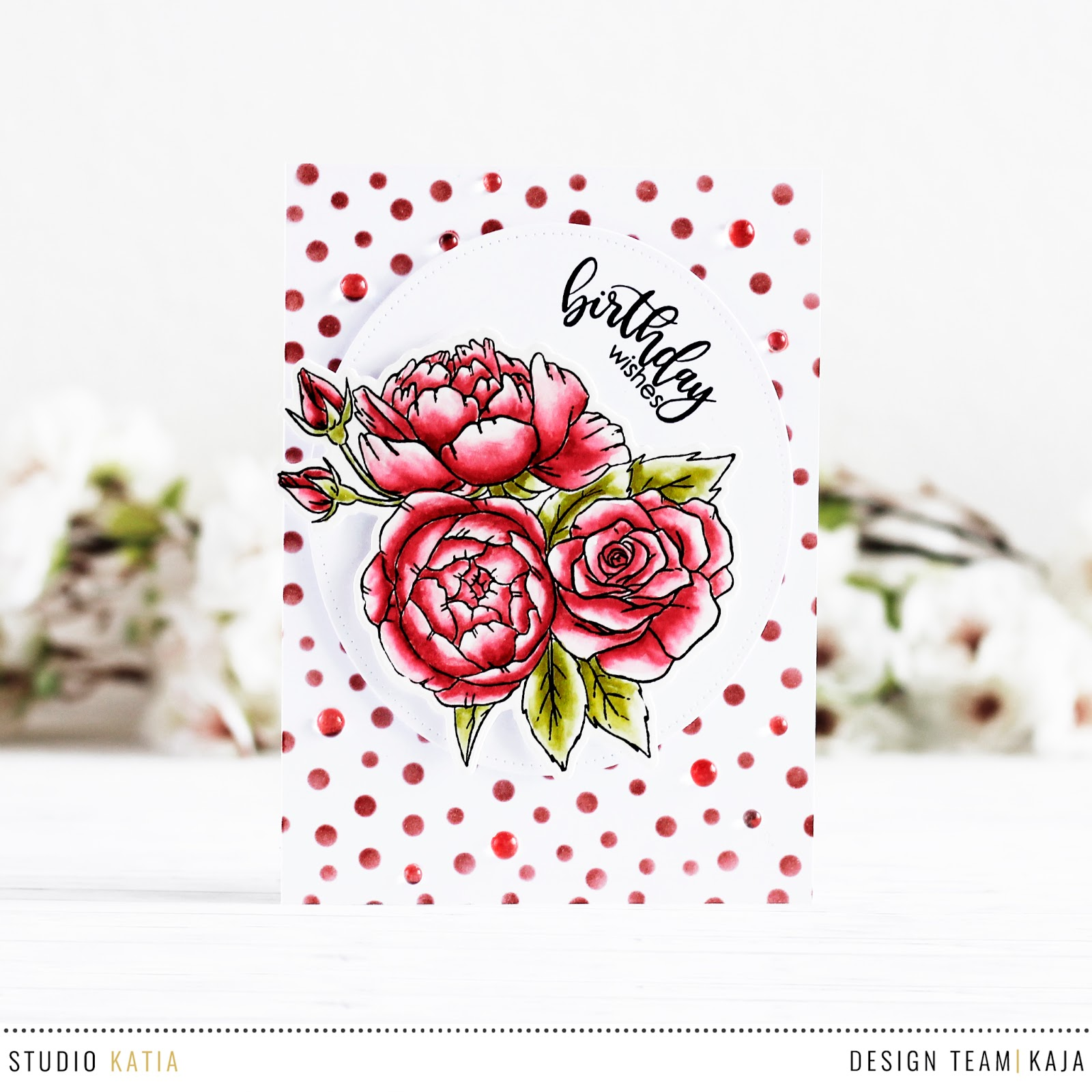 Red floral card | STUDIO KATIA