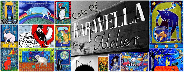 Cats of Karavella Atelier. Cat paintings by Dora Hathazi Mendes