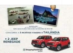 Promoção Shopping Vila Olímpia Dia dos Namorados 2019 - 2 Jeep Renegade e Viagens