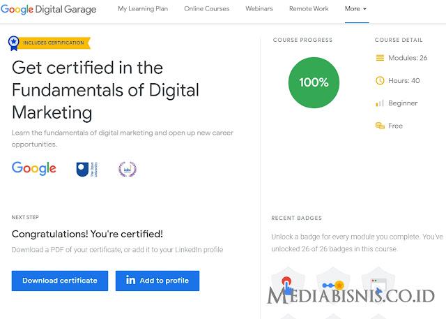 Jawaban Google Digital Garage Final Exam