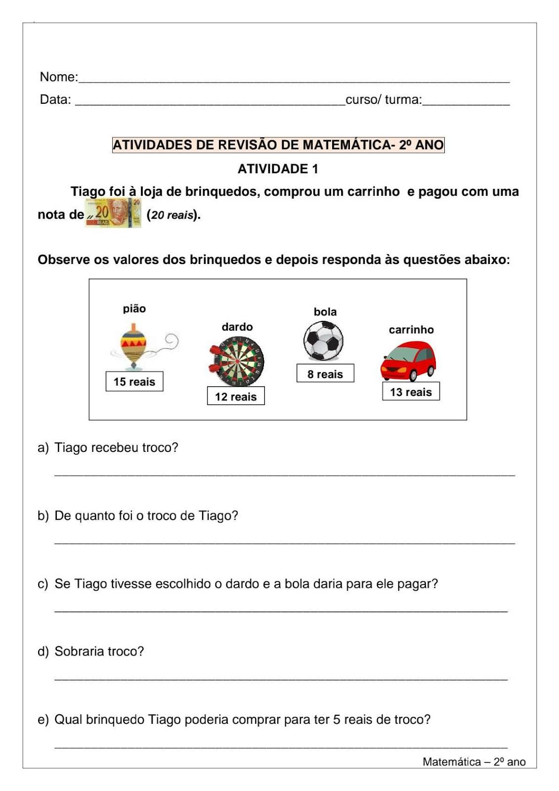 Blog Educacao E Transformacao Matematica 3 Ano