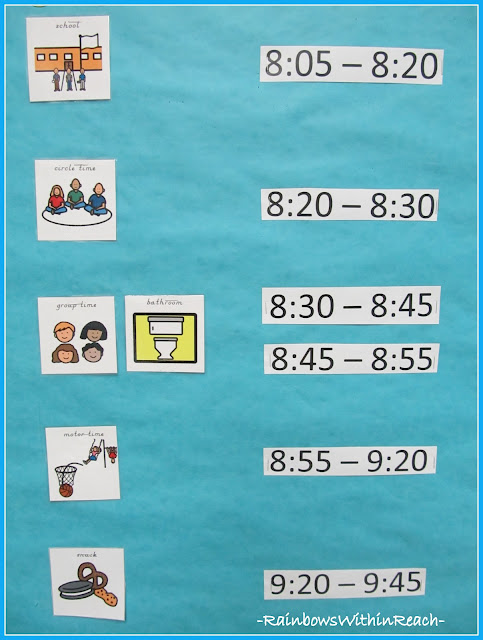 photo of: Visual Schedule for Children with Special Needs