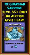Ice Guardian - Wizard101 Card-Giving Jewel Guide