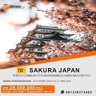 7d paket tour japan