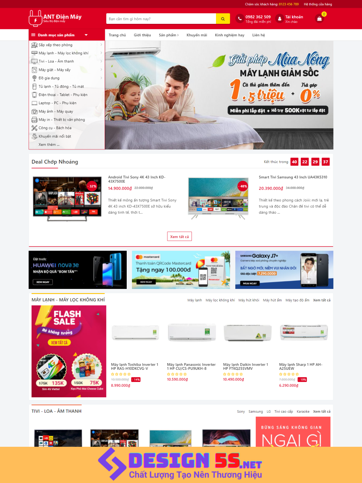 Theme blogspot bán hàng điện máy, điện gia dụng VSM81