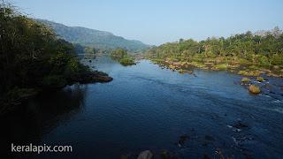 View of Chalkudi river from Vettilappara bridge
