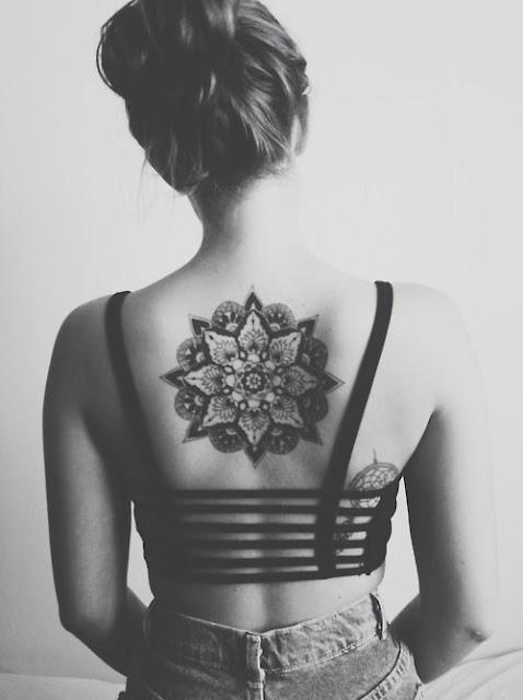 Flower Back Tattoos For Women