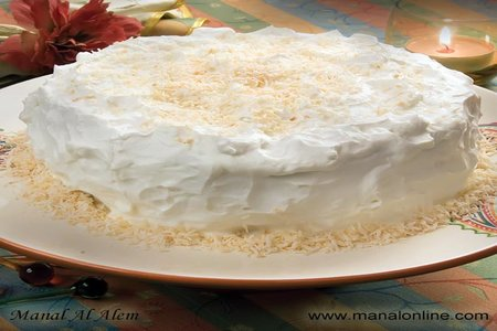 كيك جوز الهند - مطبخ منال العالم